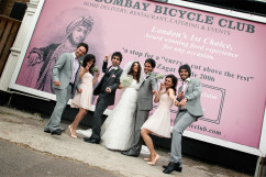 Iranian wedding bridal party