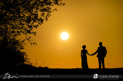southend-barns-wedding-venue-sunset-bride-and-groom