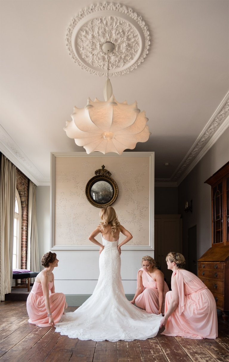 Bridesmaids With Bride At Kenwood House Wedding Pp W768 H1216