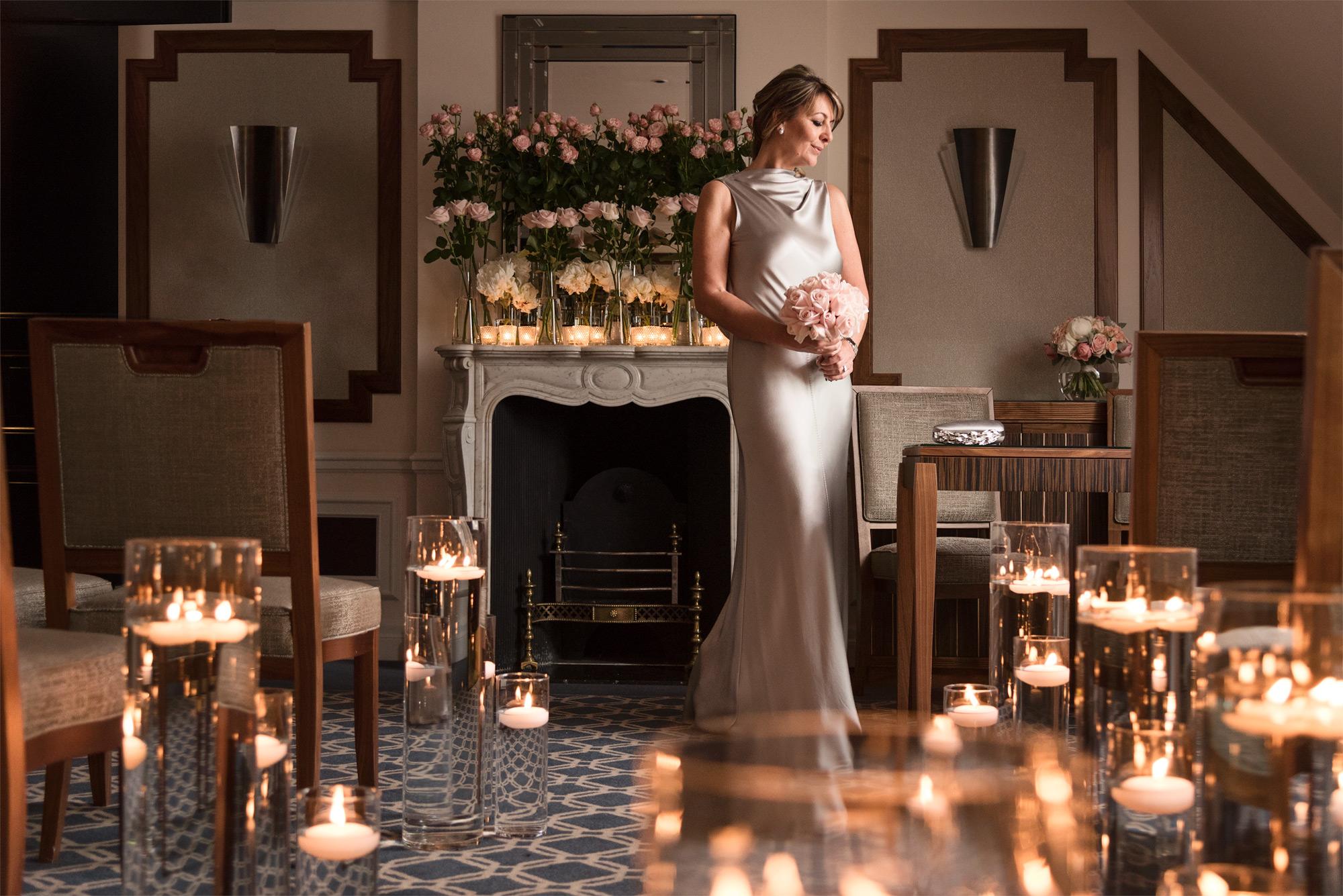 claridges-bride-in-cermony-room-mcqueens-flowers