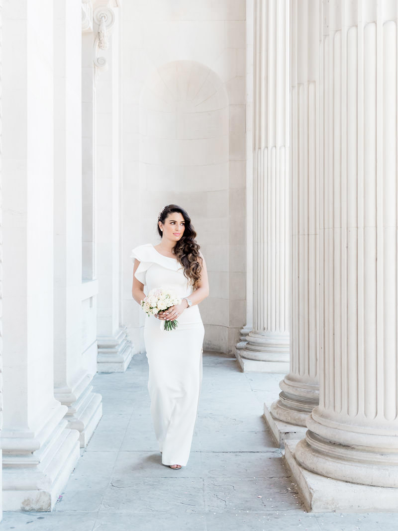 Wedding photography bride at Marylebone town hall London